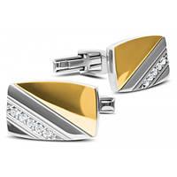 Серебряные запонки с золотыми напайками