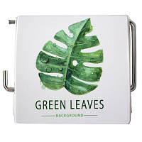 Держатель для туалетной бумаги Bathlux закрытый Green Leaves 50334 SKL11-132601, фото 1