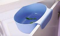 Подвесной контейнер для мусора на дверцу (синий)