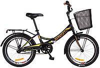 Велосипед городской/складной Formula Smart 20 с корзиной/рама-13 черный/оранжевый OPS-FR-20-031