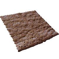 Коврик в ванную комнату Bathlux Stone 40266 антискользящий резиновый 53х53 см SKL11-132573