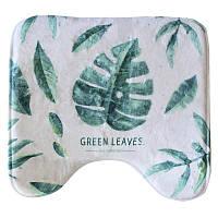 Коврик в ванную комнату Bathlux Green Leaves 10181 антискользящий хлопковый 45х45 см SKL11-132461