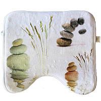 Коврик в ванную комнату Bathlux Stone 10183 антискользящий хлопковый 45х45 см SKL11-132463