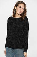 (S, M, L) Стильний жіночий чорний светр Nikky