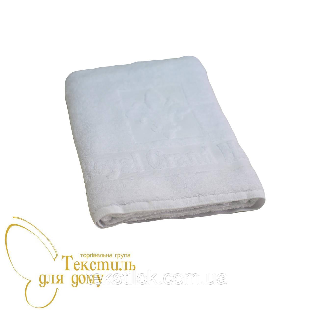 Полотенце банное 70*140, 600 гр/м2, белое с логотипом