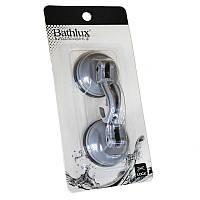 Крючок для полотенца Bathlux на вакуумной присоске 2шт. Hojas 90219 SKL11-132685