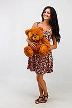 М'яка іграшка ведмедик з латками 50 см, коричневий