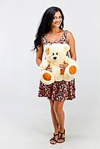 М'яка іграшка ведмедик з латками 50 см, крем
