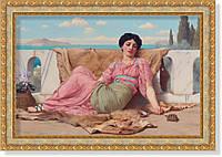 Репродукция картины Джона Уильяма Годварда «Домашний любимец» 50 х 75 см  1915 г.