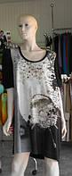 """Комбинированное платье с ассиметричными деталями """"2026 Paris"""", фото 1"""
