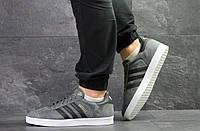 fba0bbb63c87 Adidas Gazelle, мужские кроссовки копия, замшевые код 7115 серые с черным