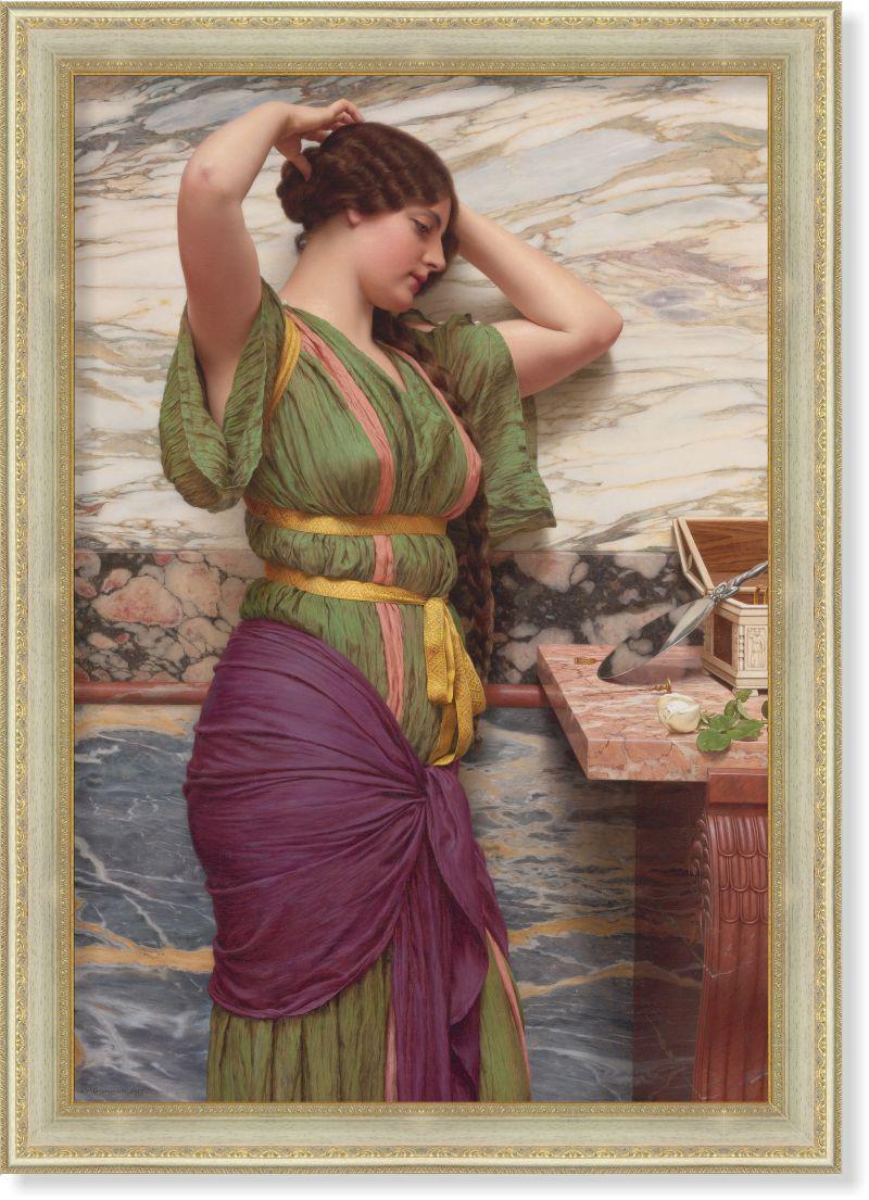 Репродукция картины Джона Уильяма Годварда «У зеркала» 75 х 110 см 1913 г.