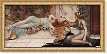 Репродукция картины Джона Уильяма Годварда «Безделье» 55 х 125 см  1915 г.