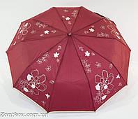 """Зонтик женский полуавтомат с серебристым узором от фирмы """"Calm Rain"""""""