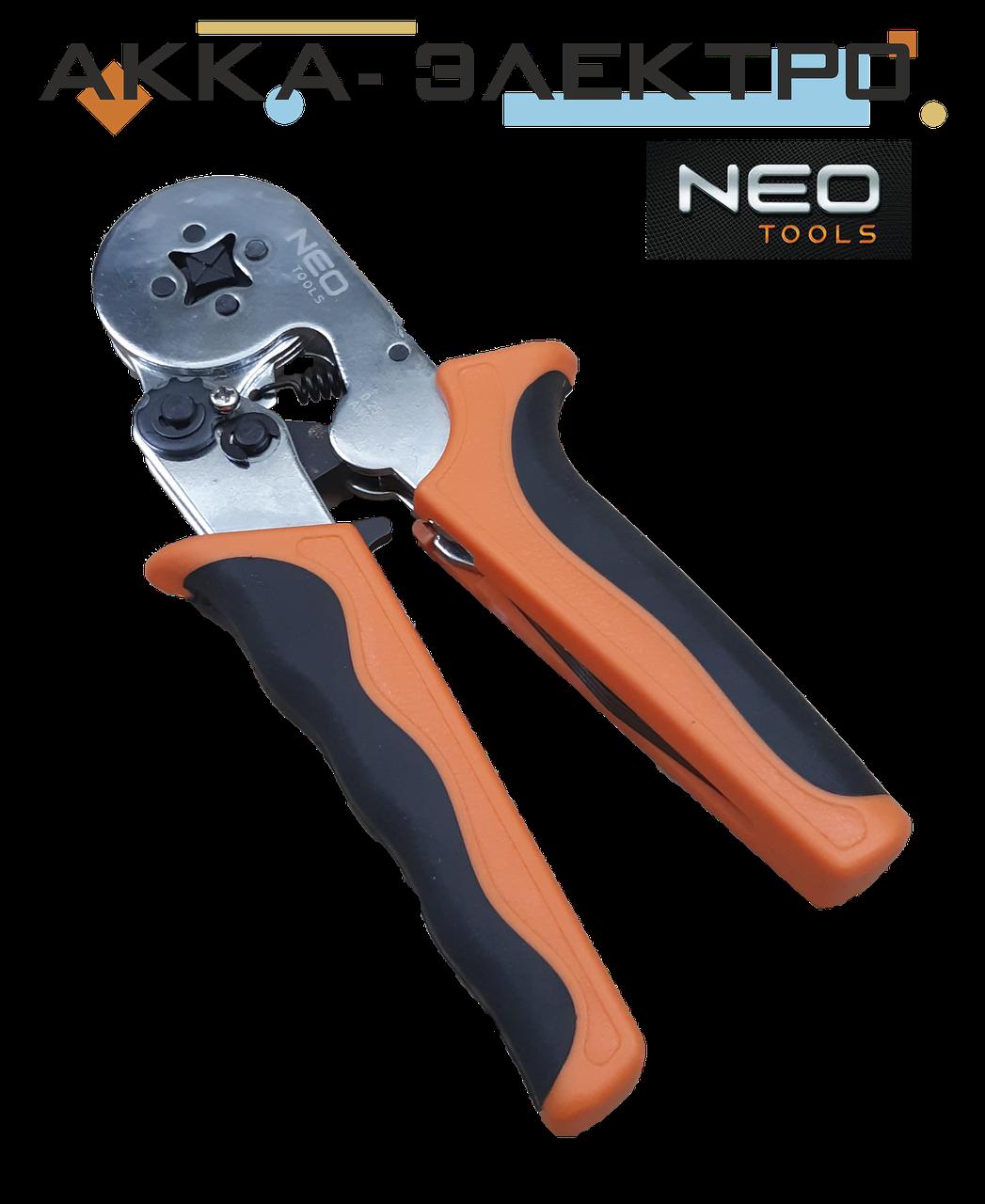 Пресс инструмент для обжима наконечников кабелей 0,25-6мм (квадрат) NEO 01-507