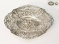 Старая серебряная тарелочка, конфетница, серебро 830, Швеция , фото 1