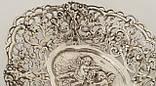 Старая серебряная тарелочка, конфетница, серебро 830, Швеция , фото 3