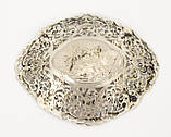Старая серебряная тарелочка, конфетница, серебро 830, Швеция , фото 5