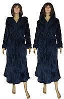 NEW! Женские махровые халаты Rel'ef Dark Blue вельсофт ТМ УКРТРИКОТАЖ!
