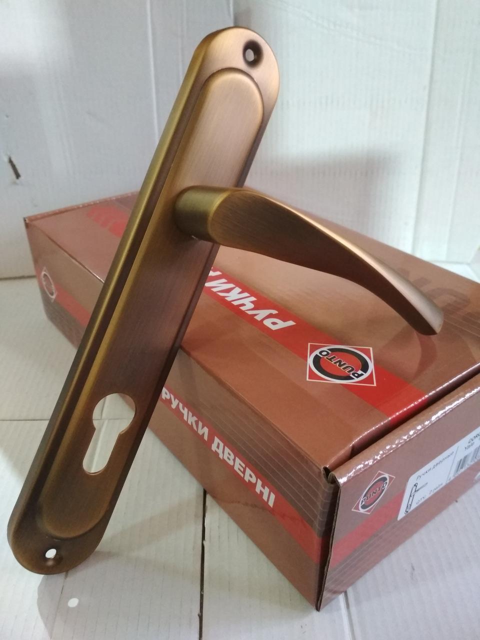 Ручка дверная CORONA STLYale 85 mm AB, бронза
