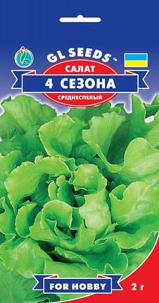 Салат 4 Сезона, пакет 2г - Семена зелени и пряностей, фото 2