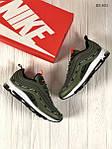 Мужские кроссовки Nike Air Max 97 зеленые, фото 4