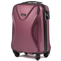 Малый пластиковый чемодан Wings 518 на 4 колесах бордовый, фото 1