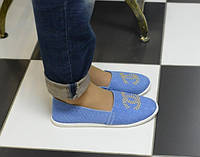 Эспадрильи голубые Chanel код 5747