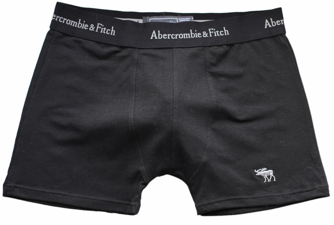 Трусы БОКСЕРЫ черные Abercrombie & Fitch reindeer,  боксерки мини-шорты, чоловічі труси 5цв