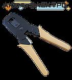 Клещи для наконечников 4P, 6P, 8P, обрезиненные ручки, ножик для снятия изоляции TOPEX (320409), фото 2