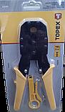 Клещи для наконечников 4P, 6P, 8P, обрезиненные ручки, ножик для снятия изоляции TOPEX (320409), фото 4