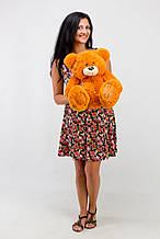 М'яка іграшка ведмедик з латками 50 см, карамель\світло-коричновий