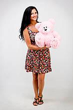 М'яка іграшка ведмедик з латками 50 см, рожевий