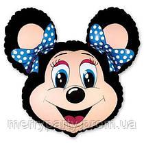 Мини-фигура 29х35 см Лолли Маус черная Flexmetal Испания шар фольгированный