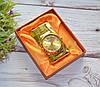 """Золотистая зажигалка """"Часы"""" в подарочной коробочке"""