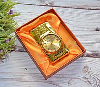 """Золотистая зажигалка """"Часы"""" в подарочной коробочке, фото 1"""