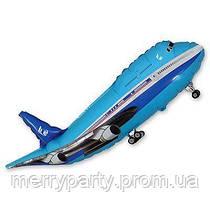 Мини-фигура 18х44 см Самолет голубой Flexmetal Испания шар фольгированный