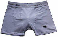 Трусы БОКСЕРЫ серые Abercrombie & Fitch reindeer,  боксерки мини-шорты, чоловічі труси 5цв, фото 3