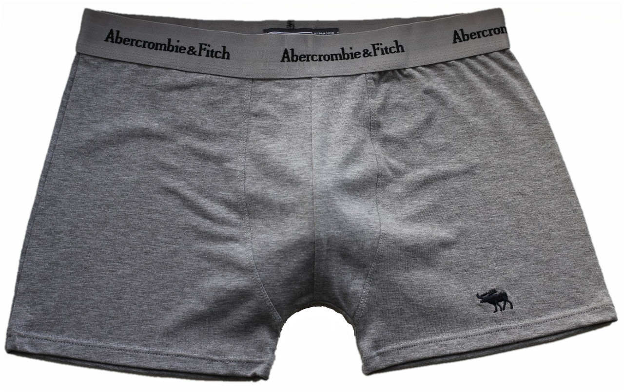 Трусы БОКСЕРЫ серые Abercrombie & Fitch reindeer,  боксерки мини-шорты, чоловічі труси 5цв