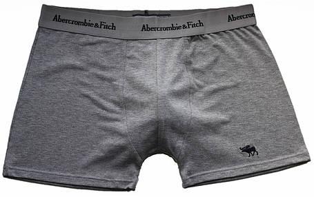 Трусы БОКСЕРЫ серые Abercrombie & Fitch reindeer,  боксерки мини-шорты, чоловічі труси 5цв, фото 2