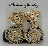 Серьги Versace. RRR элитные женские ювелирные украшения оптом. 204