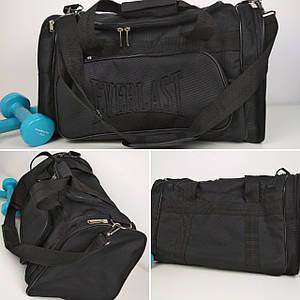 Спортивная черная сумка с ручками 50*30*24 см