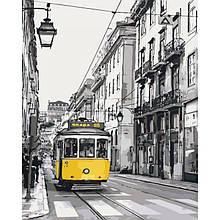 Картина по номерам - Желтый трамвайчик