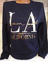 Батник с надписями коттоновый женский LA Dreaming (ПОШТУЧНО)