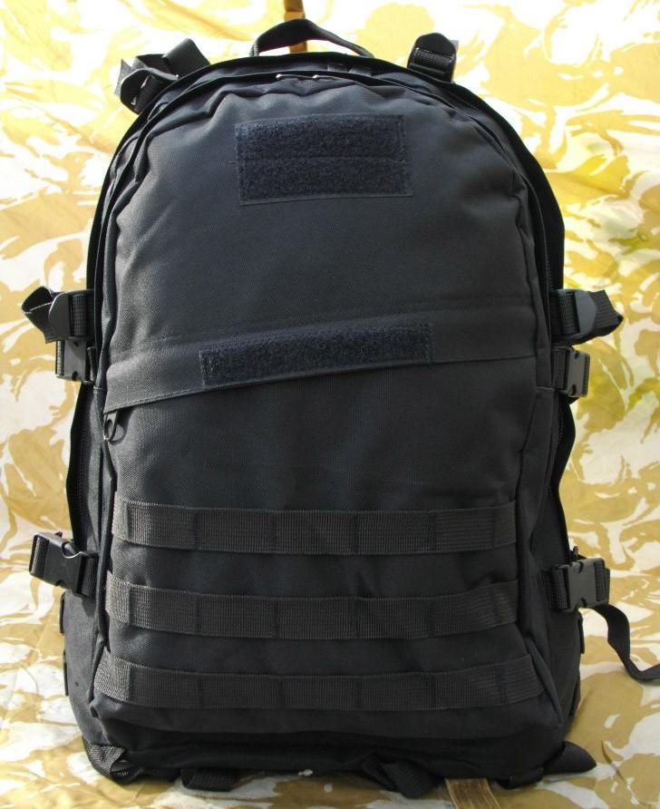 Тактичний (військовий) рюкзак Raid з системою M. O. L. L. E Black (601-black)