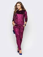 Спортивный костюм женский мраморный велюр красивый модный 42 44 46 48 50 Р, фото 1