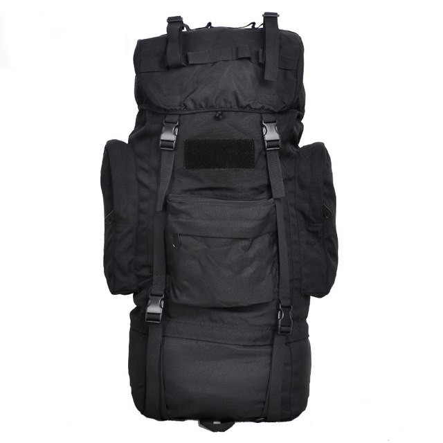 Тактический (туристический) рюкзак на 65 литров Black (ta65 чёрный)