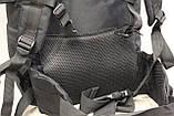 Тактический (туристический) рюкзак на 65 литров Black (ta65 чёрный), фото 5