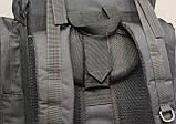 Тактический (туристический) рюкзак на 65 литров Black (ta65 чёрный), фото 4