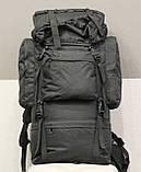 Тактический (туристический) рюкзак на 65 литров Black (ta65 чёрный), фото 6